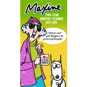 "2017-2018 TF Publishing 6.5"" x 3.5"" Maxine 2 Year Pocket Calendar  (17-7052)"
