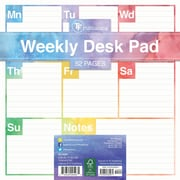 "TF Publishing 7.75"" x 7.75"" Elements Weekly Desk Pad (20-0081)"