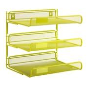 Honey Can Do 3 Tier Mesh Desk Organizer, Green (OFC-04879)