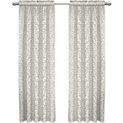 Traditions by Waverly Duncan Single Curtain Panel; Sterling