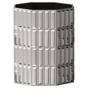 NU Steel Glitz Wastebasket; Chrome