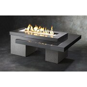 The Outdoor GreatRoom Company Uptown Crystal Fire Pit Table w/ Tile Top and Burner; Black / Gray