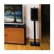 Sanus 24'' Fixed Height Speaker Stand (Set of 2); Black