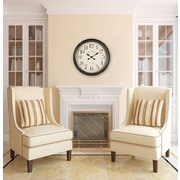 Cooper Classics Oversized 24.5'' Whitley Wall Clock