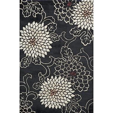 Momeni Koi Black/White Rug; 8' x 11'