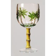 LeadingWare Group, Inc Palm Tree All-Purpose Wine Glass (Set of 4)