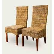 ElanaMar Designs St. Kitts Abaca Side Chair (Set of 2)