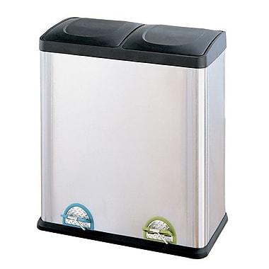 OIA 15.85 Gallon Step-On Multi Compartment Recycling Bin