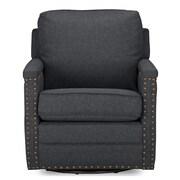 Wholesale Interiors Baxton Studio Classic Retro Upholstered Arm Chair; Gray