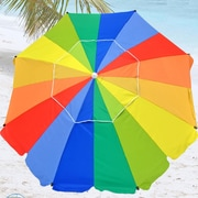 Shadezilla 8' Premium Beach Umbrella with Integrated Anchor