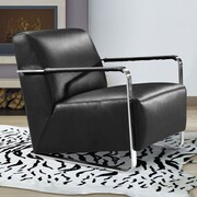 VIG Furniture Divani Casa Bison Leather Artm Chair; Black