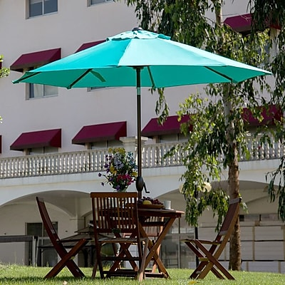 Abba Patio 9' Market Umbrella; Turquoise WYF078278353476