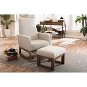 Wholesale Interiors Baxton Studio Rocking Chair; Beige