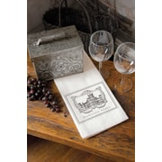Heritage Lace Wine Labels Tea Towel
