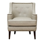 Iconic Home Grace Button Tufted Armchair; Gray