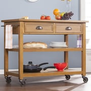 Wildon Home   Kipner Kitchen Cart with Wood Top