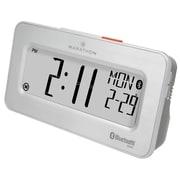 Marathon Watch Company Desktop Alarm Clock; Brushed Steel