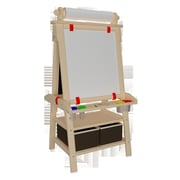 Little Partners Folding Marker Tray Magnetic Board Easel; Natural