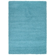 sweet home stores Cozy Shag Machine Woven Mat; Turquoise Blue