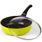 Cook N Home 9.8'' Non-Stick Wok Pan w/ Lid
