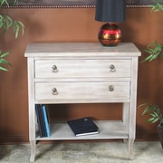 Heather Ann Heirloom Accent Cabinet; Beige Wash