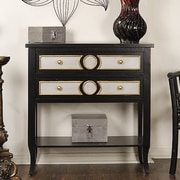 Heather Ann Heirloom Accent Cabinet; Black W/Light Grey & Gold Accents on the Drawers