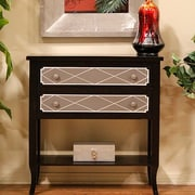 Heather Ann Heirloom Accent Cabinet; Black W/Grey Accents on the Drawers.
