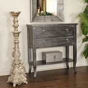 Heather Ann Heirloom Accent Cabinet; Black Wash