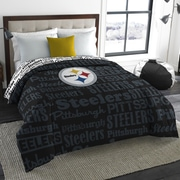 Northwest Co. NFL Steelers Anthem Comforter; Full