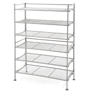 Seville Classics Utility 3-Tier Shoe Rack (Set of 2); Satin Pewter