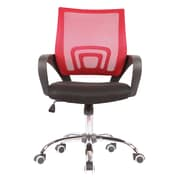 Porthos Home Blake High-Back Task Chair; Red