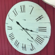 Essex Hand Crafted Wood Products 30'' Thorp Bay Wood Wall Hanging Clock