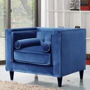 Meridian Furniture USA Taylor Velvet Club Chair; Light Blue