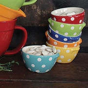 Creative Co-Op Stoneware Serving Bowls (Set of 6)