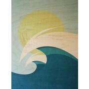 LoveTheGrain Vintage Series Morning Peak by Shaun Thomas Graphic Art on Wood