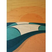 LoveTheGrain Sunny Days Pipeline by Shaun Thomas Graphic Art on Wood