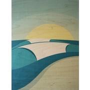 LoveTheGrain Vintage Series Pipeline by Shaun Thomas Graphic Art on Wood