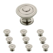 "Franklin Brass 1-1/4"" Hayes Kitchen Cabinet Hardware Knob, Satin Nickel, 10 Pack (P29525K-SN-B)"