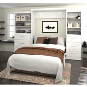 """Pur by Bestar 126"""" Queen Wall Bed Kit, White, (26879-17)"""