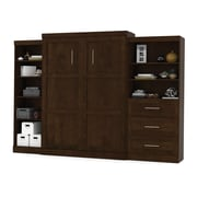"""Pur by Bestar 126"""" Queen Wall Bed Kit, Chocolate, (26882-69)"""