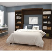 """Pur by Bestar 115"""" Queen Wall Bed Kit, Chocolate, (26883-69)"""