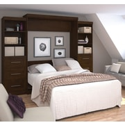 """Pur by Bestar 115"""" Queen Wall Bed Kit, Chocolate, (26884-69)"""