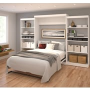 """Pur by Bestar 136"""" Queen Wall Bed Kit, White, (26885-17)"""