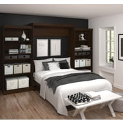 """Pur by Bestar 136"""" Queen Wall Bed Kit, Chocolate, (26885-69)"""