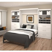 """Pur by Bestar 136"""" Queen Wall Bed Kit, White, (26886-17)"""