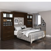 """Pur by Bestar 136"""" Queen Wall Bed Kit, Chocolate, (26886-69)"""