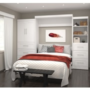 """Pur by Bestar 126"""" Queen Wall Bed Kit, White, (26889-17)"""