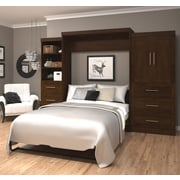 """Pur by Bestar 126"""" Queen Wall Bed Kit, Chocolate, (26889-69)"""