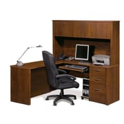 Bestar Embassy L-Shaped Workstation Kit, Tuscany Brown (60865-63)