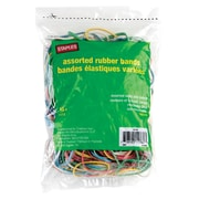 Staples® Economy Rubber Bands, Assorted Size and Colour